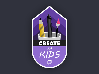 Create for Kids Logo twitch charity logo