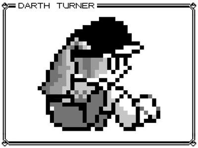 Female Pokemon Trainer (Red, Blue, and Yellow Version) game boy retro black and white pixel anime yellow red blue pokemon