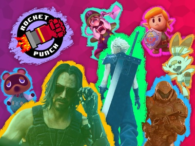 Rocket Punch Branding | Summer 2019 neon gaming branding