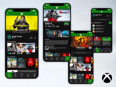 Xbox Mobile App [Concept] v2 ux ui redesign mobile ui xbox gaming