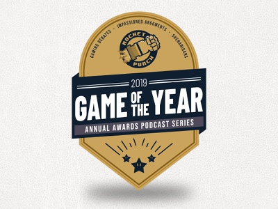 Rocket Punch Game of the Year 2019 Badge gaming stars blue gold award badge