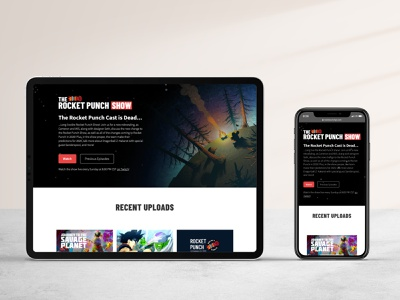 Rocket Punch Redesigned Homepage show livestream twitch gaming podcast web design website webflow