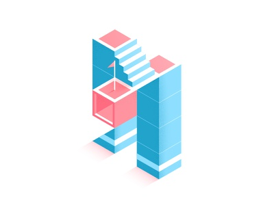 'M' is for Monument Valley illustration color isometric ida construction fun build impossible illusion game play 36daysoftype