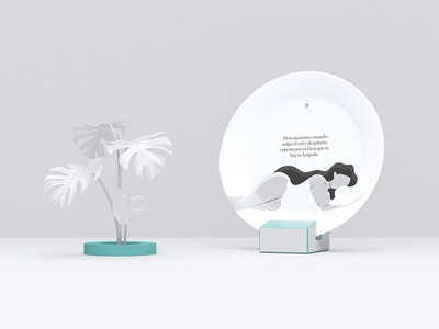 Caicus — Micro-story 2/3 plate tale story flat dish vector illustration azul recreo