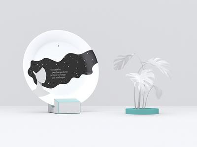 Caicus — Micro-story 1/3 story tale dish flat azul recreo vector illustration