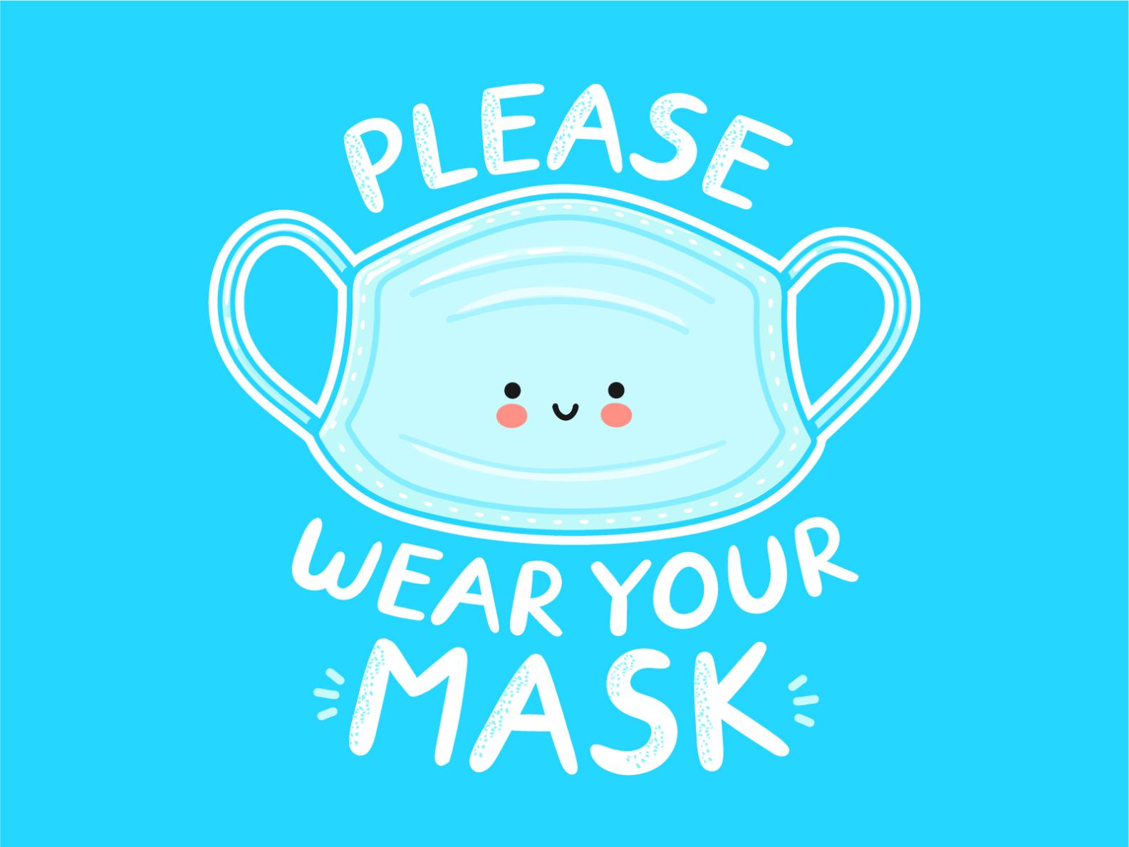 Wear your mask poster by Slava Svt on Dribbble