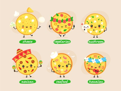 Pizza character set
