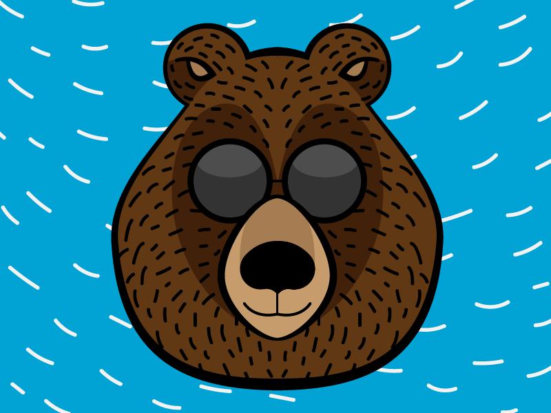 Another bear logo symmetry illustrator logo bear