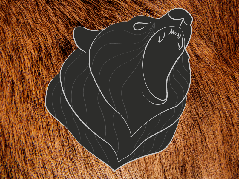 And another bear logo grizzly illustrator logo bear