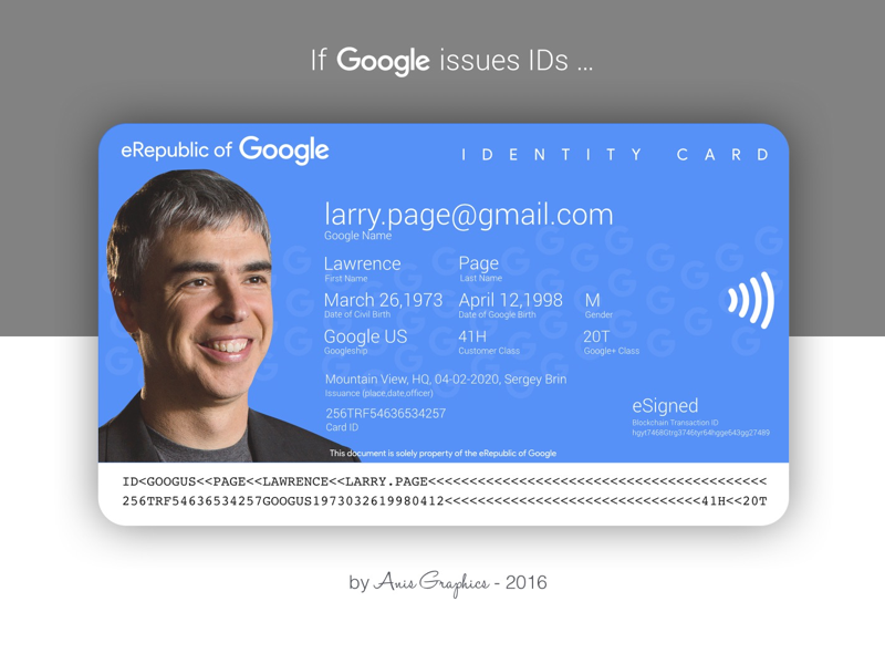 Google ID payment contactless healthcare anticipation dailyui id social identity card google
