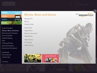 Amazon Redesign - Navigation Menu