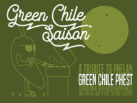Green Chile Saison Beer Label