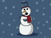 Snowman Eating Snowflakes