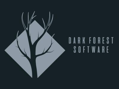 Dark Forest Software Logo software logo tree logo creepy tree dark forest forest logo forest