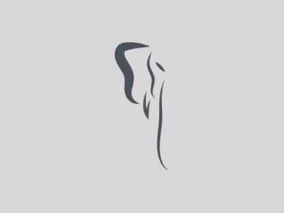 Elephant Side Profile Logo