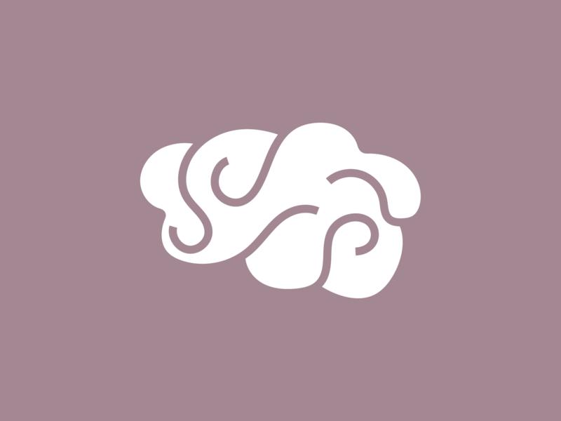 Negative Space Brain Logo negative space logo brains logodesign brain logo brain