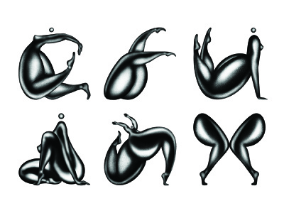 36 Days of Type 07 Select 1 legs booty body procreate girl dance typography person type lettering letter illustration 36 days of type