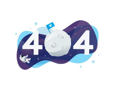 Vime-Uh-Oh error moon space astronaut empty state vimeo 404
