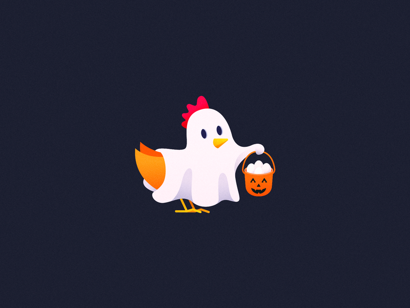 Chick or Treat 🐔  Vectober #5 costume ghost halloween trick or treat chicken inktober2018 vectober inktober