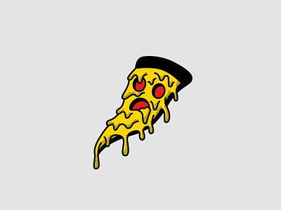 ZZAAA 🍕| Vectober #9 halftone slice inktober2018 vectober inktober drip melting cheese drooling pizza