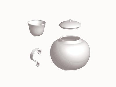 Teatober 🍵| Vectober #10 3d drink cup dishes ceramic teapot teacup tea