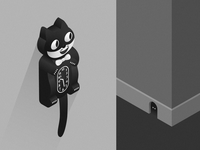Cat Clock 👁👁| Vectober #14