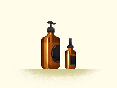 Amber Bottles skincare vial soap glass bottle
