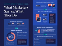 Marketer Say vs. Do Infographic