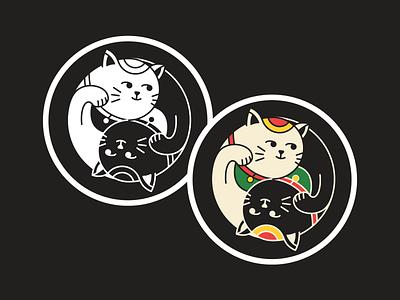Yin & Yang Cat cat yin yang sticker