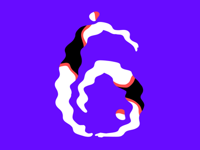6 liquify procreate 6 people synchronized swimming letter 36 days of type