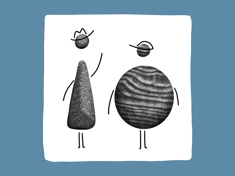 Rocks 5 cartoon people planet texture rocks cowboy