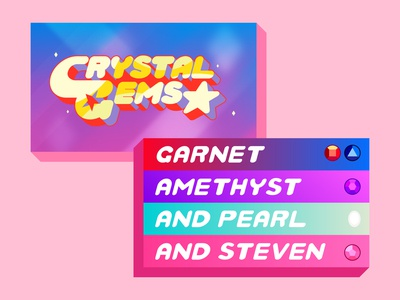 We...are the Crystal Gems  🌹💎