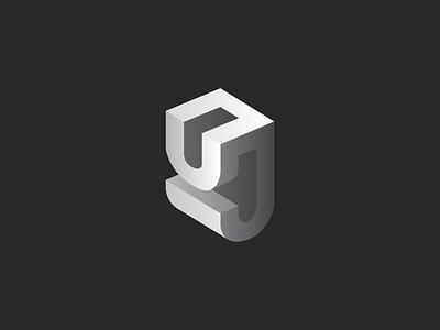 P J Mark 3d-monogram pj-monogram j-monogram p-monogram p-j-mark j-mark p-mark 3d-logo grid-system
