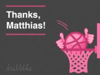 Debut: Thanks Matthias!
