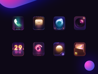 CyberPunkTheme gaming launcher theme 2020 wallpaper weather clock browser message phone game logo camera icon design illustration ui