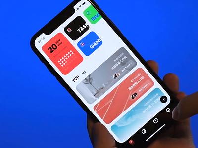 Habit App target scale transition smooth ux animation prototype demo ui card app design chart habit videogame origami