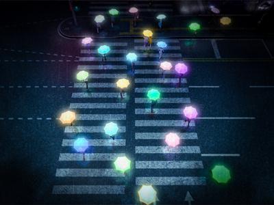 Neonbrella korea umbrella neon motion design motion design vray cinema4d artwork 3d 2d
