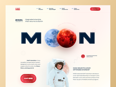 Starship Landing Page Design space kahf landing page concept userinterface landing page ui website design landing page design starship website landing page