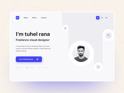 Portfolio Website Design resume design portfolio ui uiux uidesign user interface design website design landing page