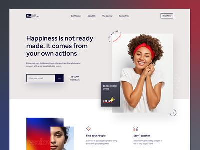 Lifestyle Website Design design agency website ui uiux webdesign user interface design uidesign kahf website design landing page
