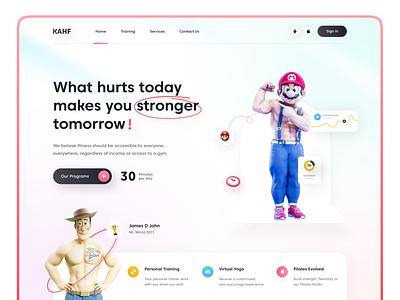 Fitness Website Design design uidesign ui uiux webdesign user interface design kahf landing page website design athletes gymnastics fitness center