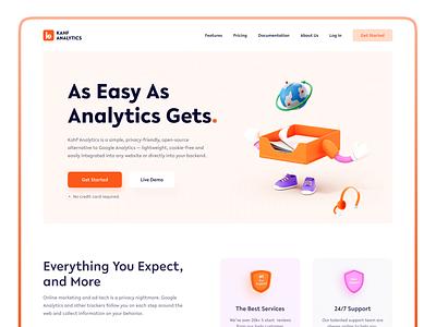 Analytics Website Design web analytics analytics ui uiux design webdesign user interface design uidesign kahf website design landing page