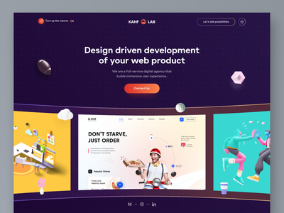 Agency - Landing page concept. business landing page agency website agency landing page website design webdesign ui uiux user interface design uidesign kahf landing page