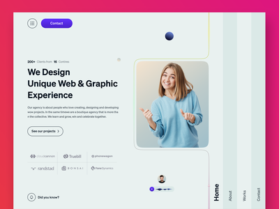 Agency - Landing page concept uiux agency landing page agency website design webdesign uidesign user interface design website design kahf landing page