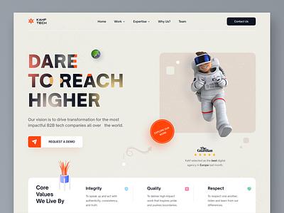 Agency - Landing page concept webdesign uiux kahf website design design user interface design uidesign landing page