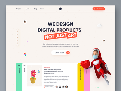 Agency - Landing page concept user interface design uiux design webdesign website design uidesign kahf landing page