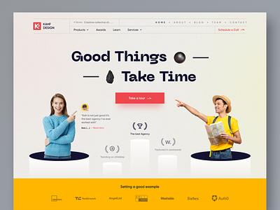 Agency - Landing page concept design uiux webdesign user interface design uidesign kahf website design landing page