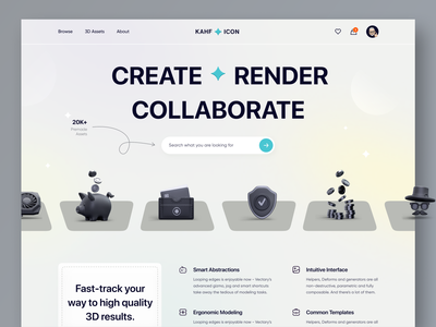Icon Resources - Landing page concept website design webdesign kahf landing page design uiux uidesign icon website interface services product