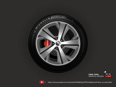 PEUGEOT 308 SW GT Wheel rim wheel tire automobile car design vector adobe illustrator illustration peugeot