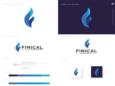 Finical Holdings LLC brand identity brand design logotype logodesign logos app ui typography branding logo icon design vector adobe illustrator